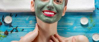 Домашние маски от прыщей на лице из зеленой глины